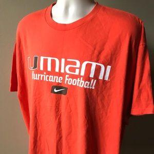 Nike Orange UNIVERSITY OF MIAMI HURRICANES T-shirt
